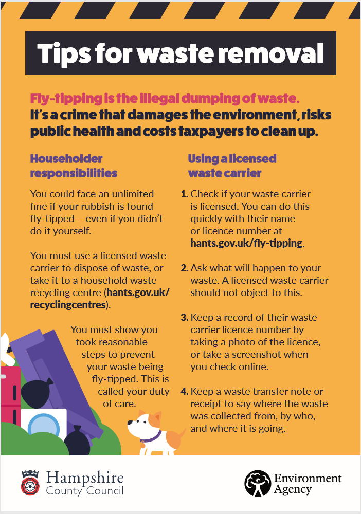 HCC Fly Tipping leaflet